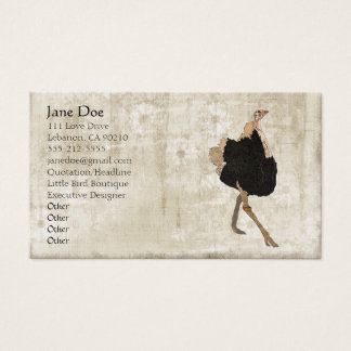Ostrich White Vintage Business Cards