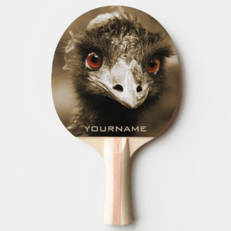 Ostriches Look custom ping pong paddle