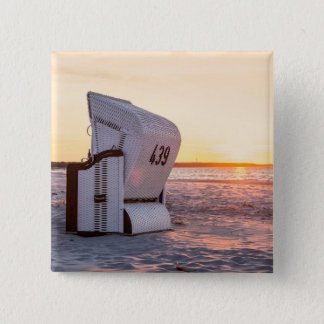 Ostsee sunset 2 inch square button
