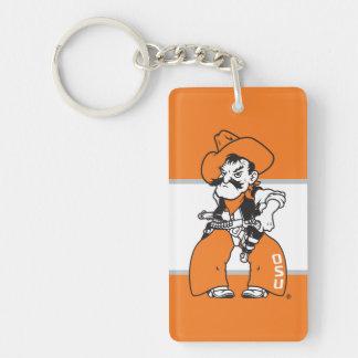 OSU Pistol Pete Double-Sided Rectangular Acrylic Keychain