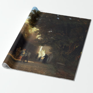 Oswald Achenbach Italian Villa and Park Wrapping Paper