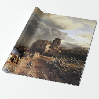 Oswald Achenbach Shaded Seaside Landscape Wrapping Paper