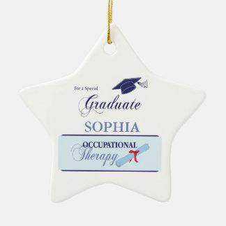 OT Graduation Congrats Blue Swirls, Gift Ceramic Ornament