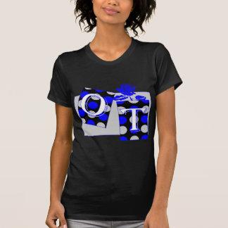 ot letter blocks blue and gray T-Shirt