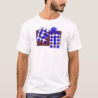 ot letter blocks blue brown T-Shirt