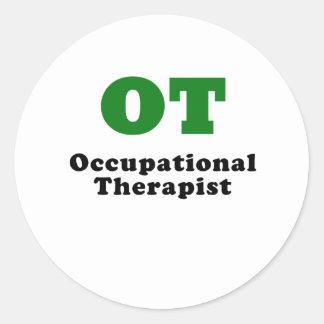 OT Occupational Therapist Round Sticker