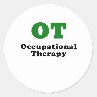 OT Occupational Therapy Round Sticker