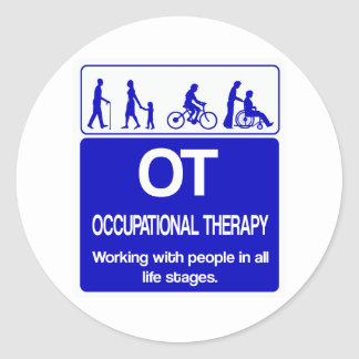 OT shirt blue 1 copy Classic Round Sticker