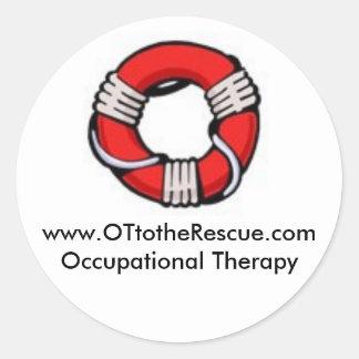 OT to the Rescue Round Sticker