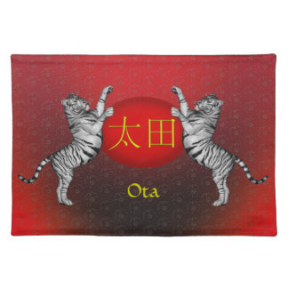 Ota Monogram Tiger Place Mat