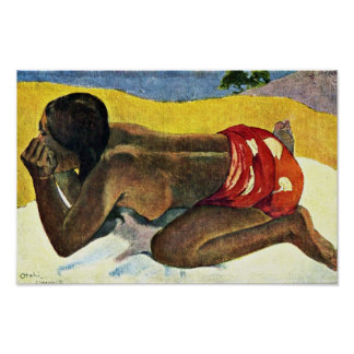 Otahi Allein By Gauguin Paul (Best Quality) Poster