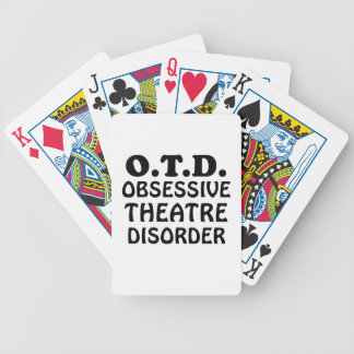 OTD Obsessive Theatre Disorder Bicycle Playing Cards