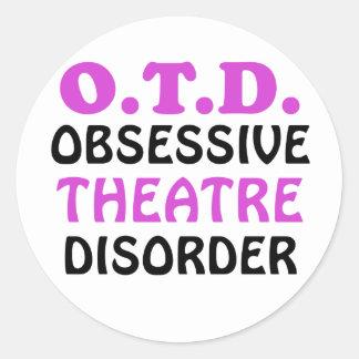 OTD Obsessive Theatre Disorder Classic Round Sticker