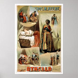 Othello Vintage Theater Poster