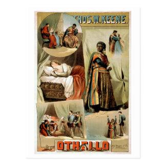 Othello Vintage Theatre Poster Postcard