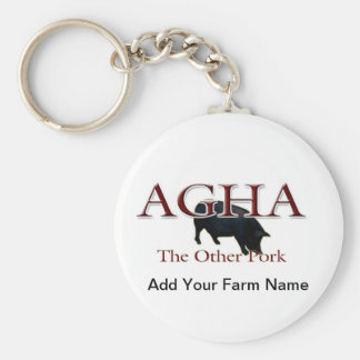 Other Pork, Add Your Farm Name Basic Round Button Keychain