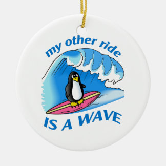 OTHER RIDE IS A WAVE CERAMIC ORNAMENT