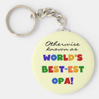 Otherwise Known as Best Opa T-shirts and Gifts Keychain