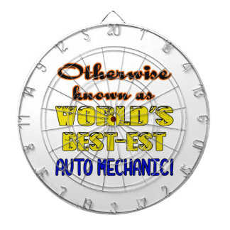 Otherwise known as world's bestest Auto mechanic Dartboard With Darts