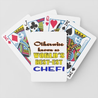 Otherwise known as world's bestest Chef Bicycle Playing Cards