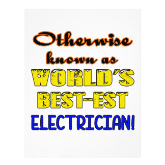 Otherwise known as world's bestest Electrician Custom Letterhead