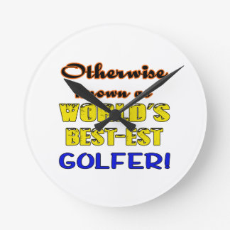 Otherwise known as world's bestest Golfer Wall Clocks