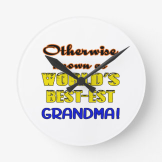 Otherwise known as world's bestest Grandma Wall Clocks