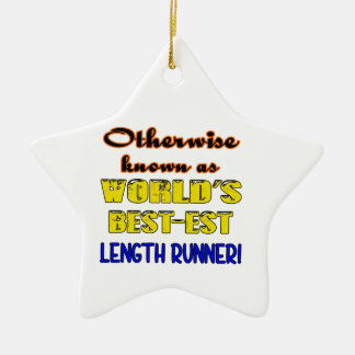 Otherwise known as world's bestest Length runner Ceramic Star Ornament