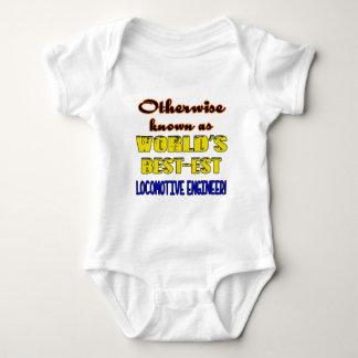 Otherwise known as world's bestest Locomotive engi Baby Bodysuit