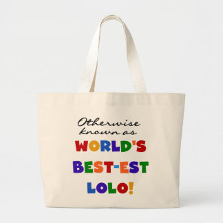 Otherwise Known Best-est Lolo T-shirts and Gifts Jumbo Tote Bag