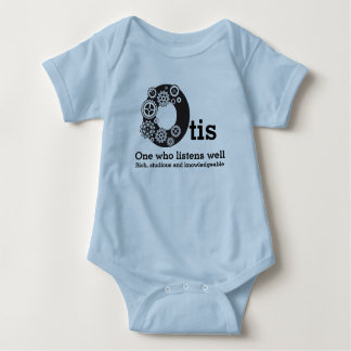 Otis boys name and meaning time cogs baby bodysuit