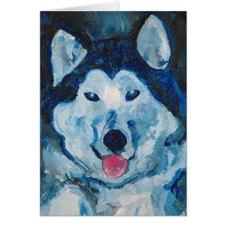 Otis in Blue Greeting Card
