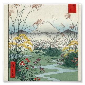 Otsuki fields in Kai Province Photographic Print