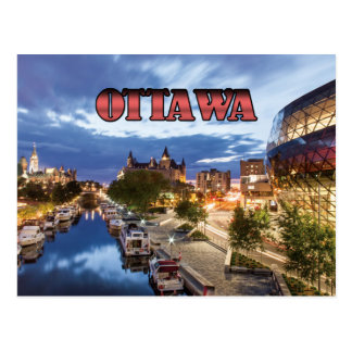 Ottawa at dusk postcard
