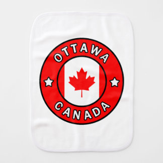 Ottawa Canada Burp Cloth