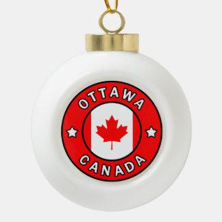Ottawa Canada Ceramic Ball Christmas Ornament