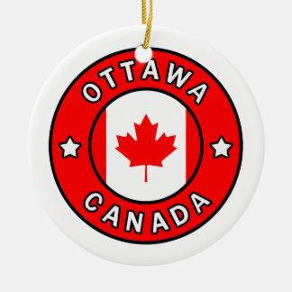 Ottawa Canada Ceramic Ornament