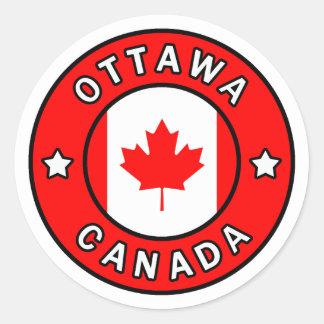 Ottawa Canada Classic Round Sticker