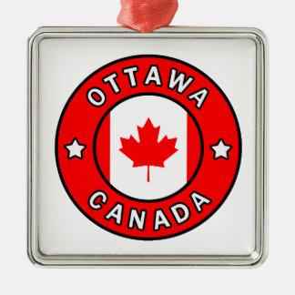 Ottawa Canada Metal Ornament