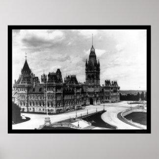 Ottawa Canada Parliament Buildings 1922 Print