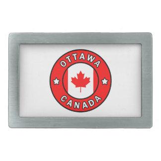 Ottawa Canada Rectangular Belt Buckle