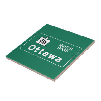 Ottawa, Canada Road Sign Tiles