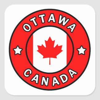 Ottawa Canada Square Sticker