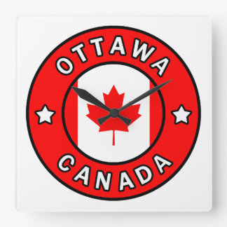 Ottawa Canada Square Wall Clock