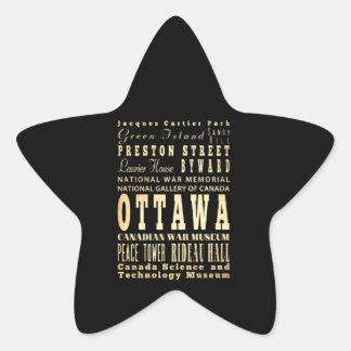Ottawa City of Canada Typography Art Sticker
