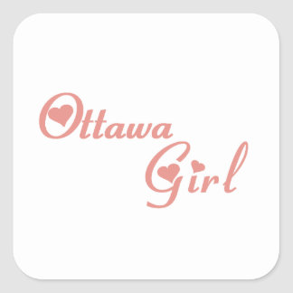 Ottawa Girl Square Sticker