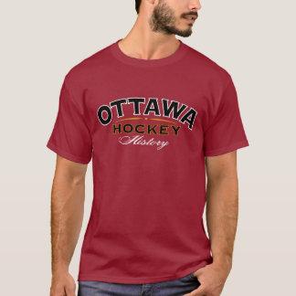 Ottawa Hockey History Dark Red T-Shirt