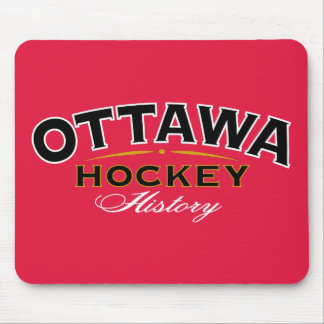 Ottawa Hockey History Red Mouse Pad