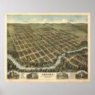 Ottawa Kansas 1872 Panoramic Map Poster