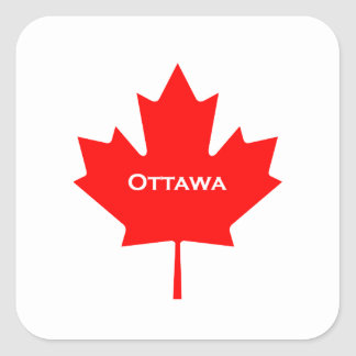 Ottawa Maple Leaf Square Sticker